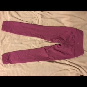 Pink Lululemon 7/8 leggings